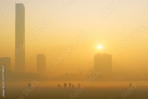 Photo  Sunrise at Kolkata.
