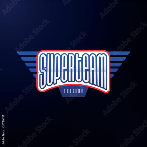 Fotografie, Tablou  Sport emblem typography