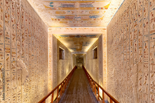 Photo  Tomb in the Valley of the Kings, is the burial place of Ramesses IV in Luxor, Eg