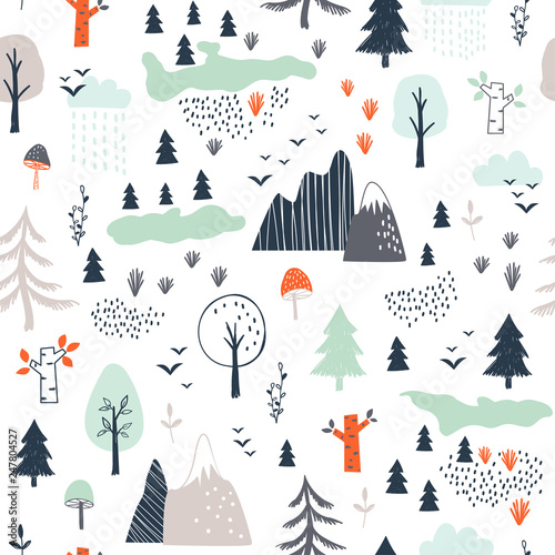 seamless-childish-pattern-with-trees-mountains-and-clouds