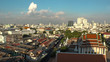 BANGKOK, THAILAND - CIRCA OCTOBER 2018 : CITYSCAPE of BANGKOK from above. View from top of GOLDEN MOUNT at WAT SAKET.