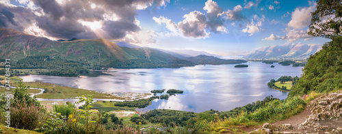 Canvas Panorama of Derwentwater lake in Cumbria
