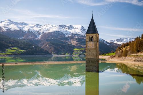 Fotografie, Obraz  Lago di Resia, Italy