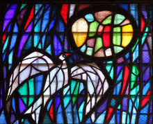 Holy Spirit Bird, Stained Glas...
