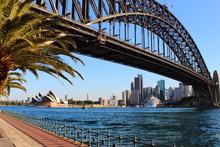 Sydney Harbour Bridge At Sunset -  Australia