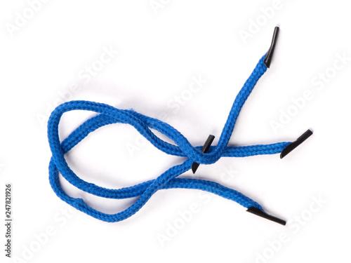 Pair of blue shoelaces Tableau sur Toile