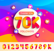 Set Of Numbers For Thanks Foll...