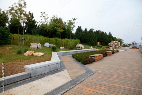 Foto op Canvas Begraafplaats Park Architectural scenery, Tangshan, China