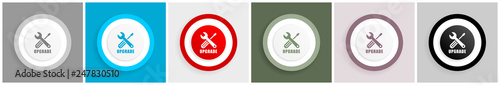 Fotografía  Upgrade icon set, vector illustrations in 6 options for web design and mobile ap