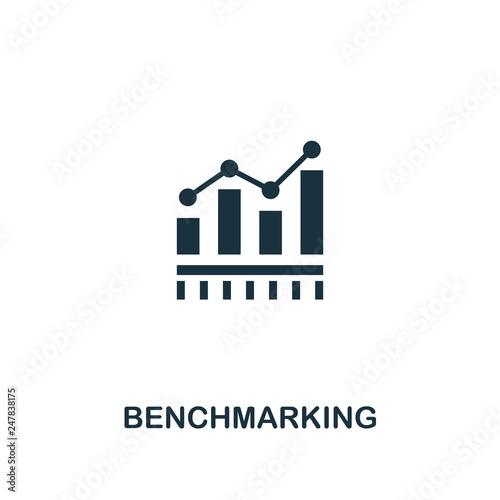 Benchmarking icon Canvas Print