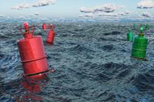 Marine Buoy In The Open Sea, 3...