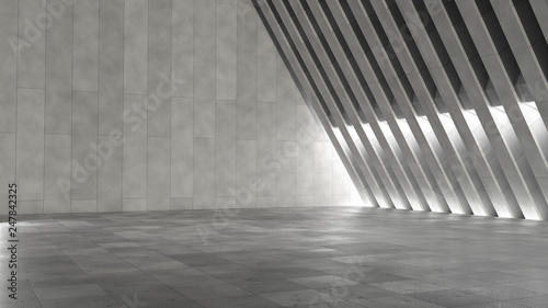 Fotografía  Empty abstract modern concrete interior