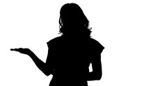 Silhouette Beautiful Woman Pre...