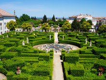 Beautiful Staircase With Antique Motives In The Botanical Garden Of The University Of Coimbra In Portugal. The Garden From 18th Century Is Considered One Of The Most Beautiful Of Europe. Sep 4th 2018
