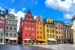Leinwanddruck Bild Stortorget square in Stockholm old town, Sweden