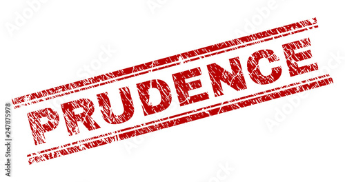 Photo PRUDENCE seal watermark with grunge effect
