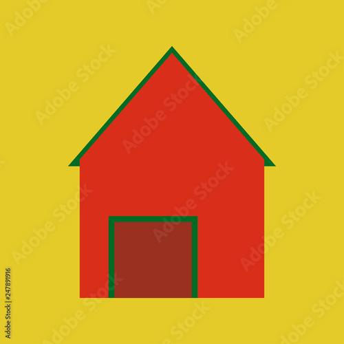 minimalist house icon in scandinavian style cute cartoon home rh stock adobe com