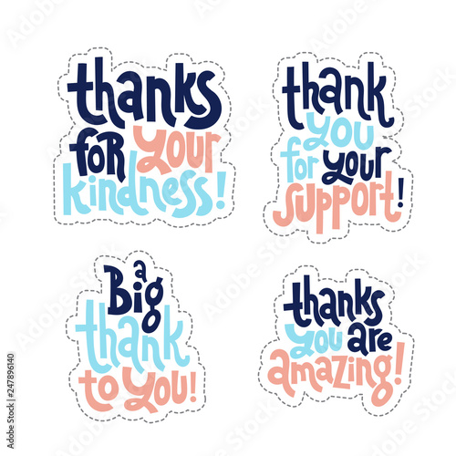 Fotografía  Thank you quotes and stickers