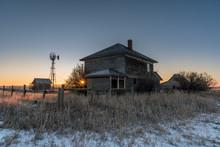 Old Abandoned Farm In Rural Alberta.