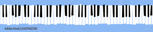 Photo Here is a stylized, distorted retro piano keyboard.
