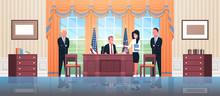 United States President Sittin...