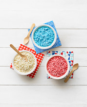 Dippin' Dots Ice Cream On A White Wood Background