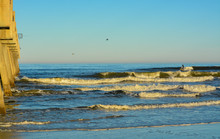 The Jacksonville Beach Pier On The Atlantic, Duval County, Florida.