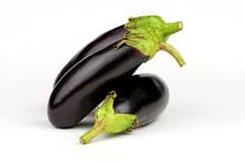 Eggplant Closeup. Ripe Eggplant