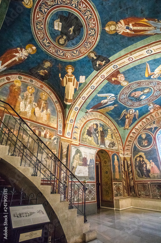 Monastery of Sacred Cave (Sacro Speco) of Saint Benedict in Subiaco, province of Rome, Lazio, central Italy Wallpaper Mural