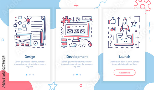 Stages of launching a startup  Doodle style  Onboarding