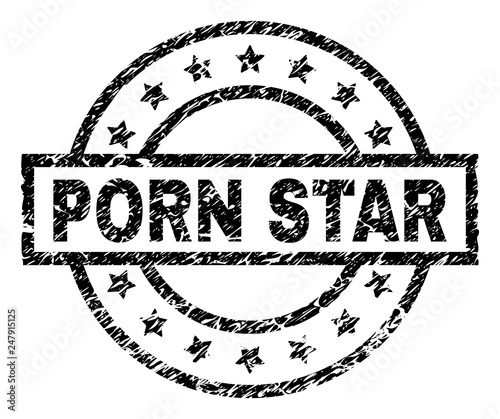 PORN STAR stamp seal watermark with distress style  Designed