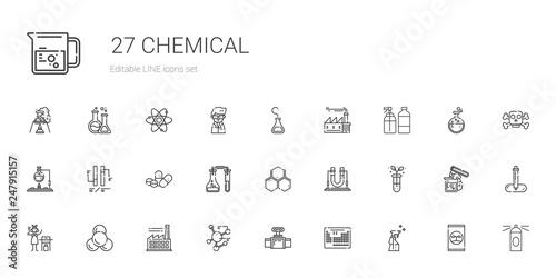 Fotografia  chemical icons set
