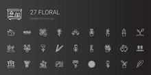 Floral Icons Set