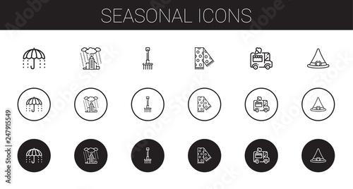 Foto  seasonal icons set