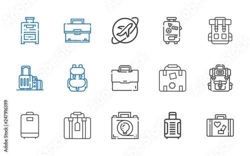 Fotografiet baggage icons set