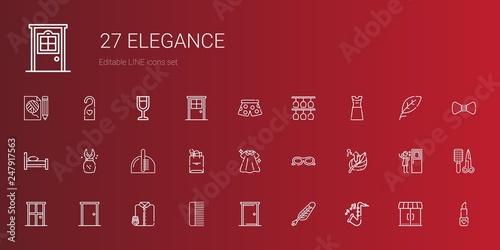 Fotografía  elegance icons set