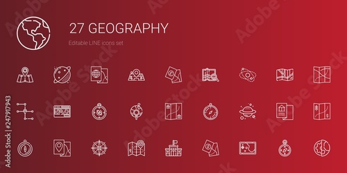 Fotografia  geography icons set