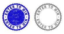 Grunge ENTER TO WIN Stamp Seal...