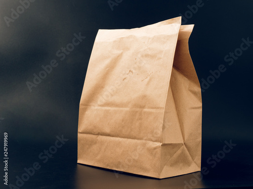 Cuadros en Lienzo paper bag packaging for food. fast food with you.