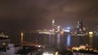 Fireworks over Victoria Harbor in Hong Kong