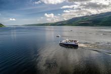 Cruise Ship At Loch Ness, Scotland