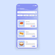 Iftar Mobile App UI Design Onboard Searching Iftar Desserts Illustration Templates