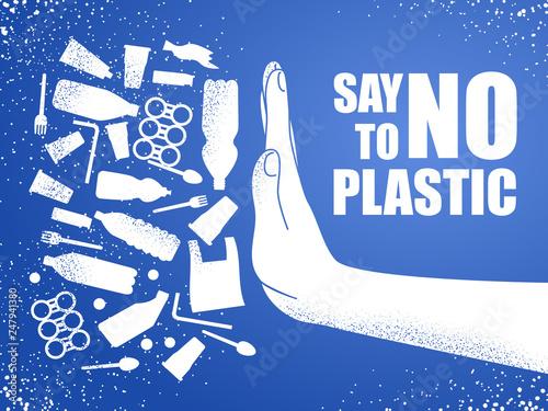 Fotografia, Obraz  Say no to plastic