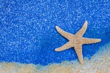 Beautiful Starfish On Blue Sea...