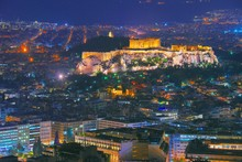 Cityscape Of Athens With Illum...