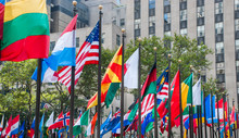 Rows Of Flags Of All Nations N...