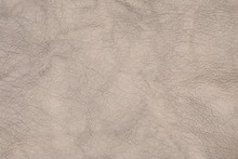 Beige Leather Close Up As A Background