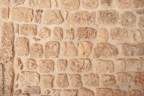 Fotografie, Obraz  wall brick white background texture