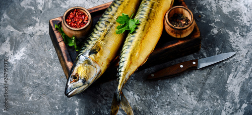 Fotografía  Smoked fish mackerel