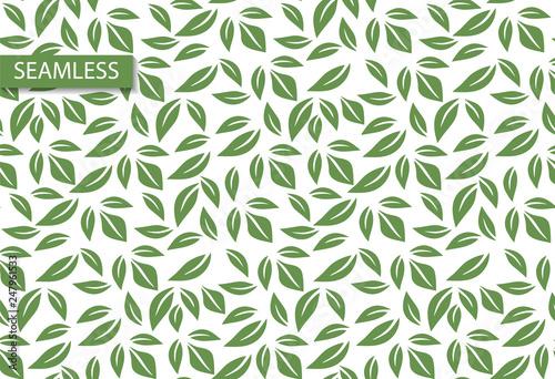 Retro Leaf Seamless Vector Pattern Modern Wallpaper Design